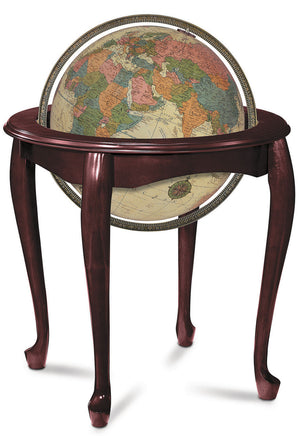 Queen Anne Illuminated 16 Inch Floor World Globe By Replogle Globes
