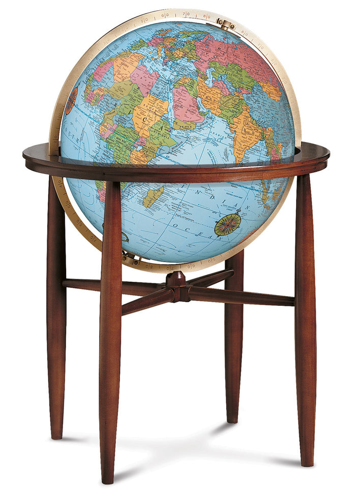 Finley Illuminated 20 Inch Floor World Globe By Replogle Globes