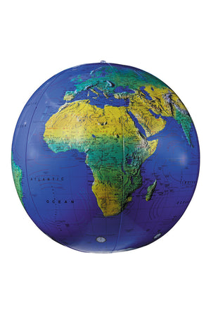 Dark Blue Topographical 16 inch Inflatable Globe by Replogle Globes