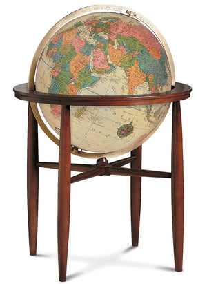 Finley Antique Illuminated 20 Inch Floor World Globe By Replogle Globes