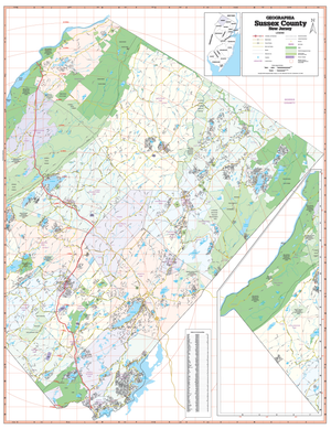 Sussex County, Nj Wall Map - Large Laminated