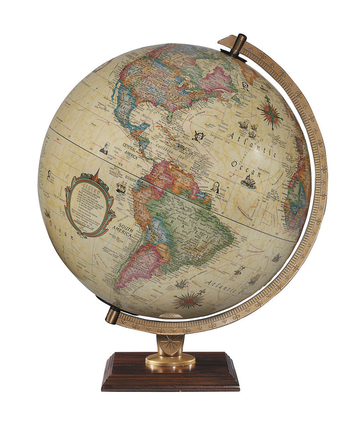 Carlyle 12 Inch Illuminated Desktop World Globe By Replogle Globes