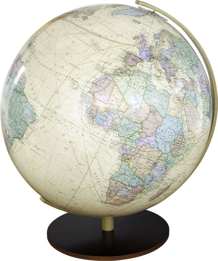 Salzburg Illuminated 13 Inch Desktop World Globe By Columbus Globes