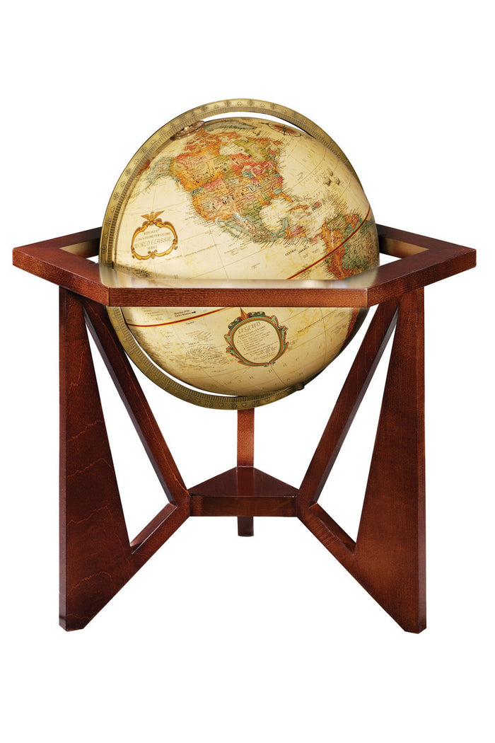Frank Lloyd Wright inspired San Marcos 12 Inch Desktop World Globe By Replogle Globes