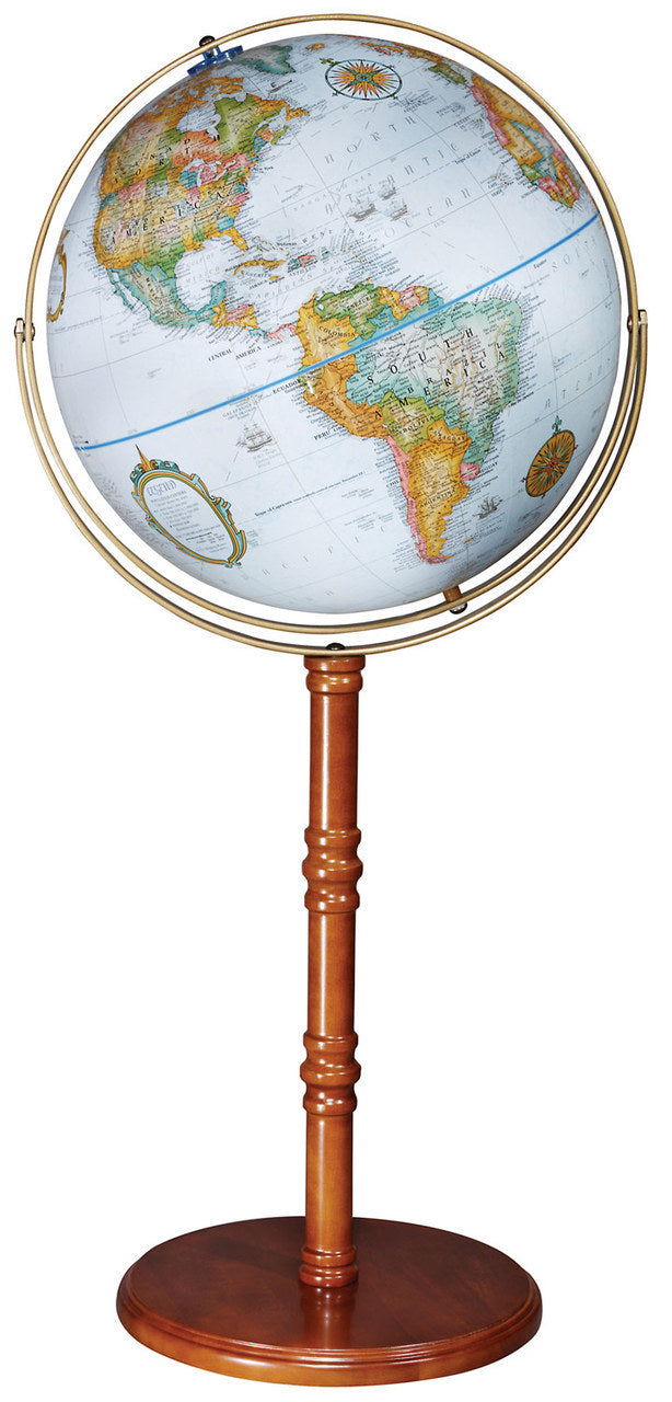 Edinburgh II 16 Inch Floor/Desk World Globe By Replogle Globes