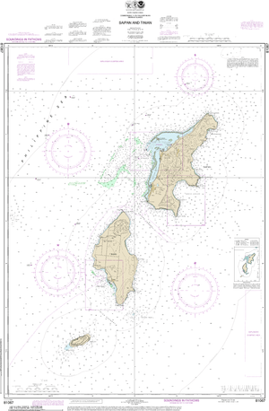 NOAA Nautical Chart 81067: Commonwealth of the Northern Mariana Islands Saipan and Tinian