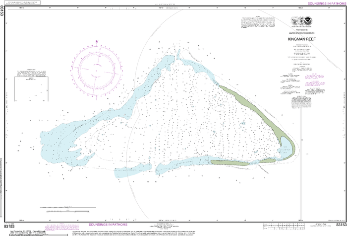 NOAA Nautical Chart 83153: United States Possesion Kingman Reef