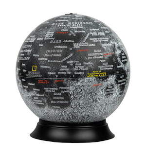 Moon 12 Inch Illuminated Desktop World Globe By National Geographic