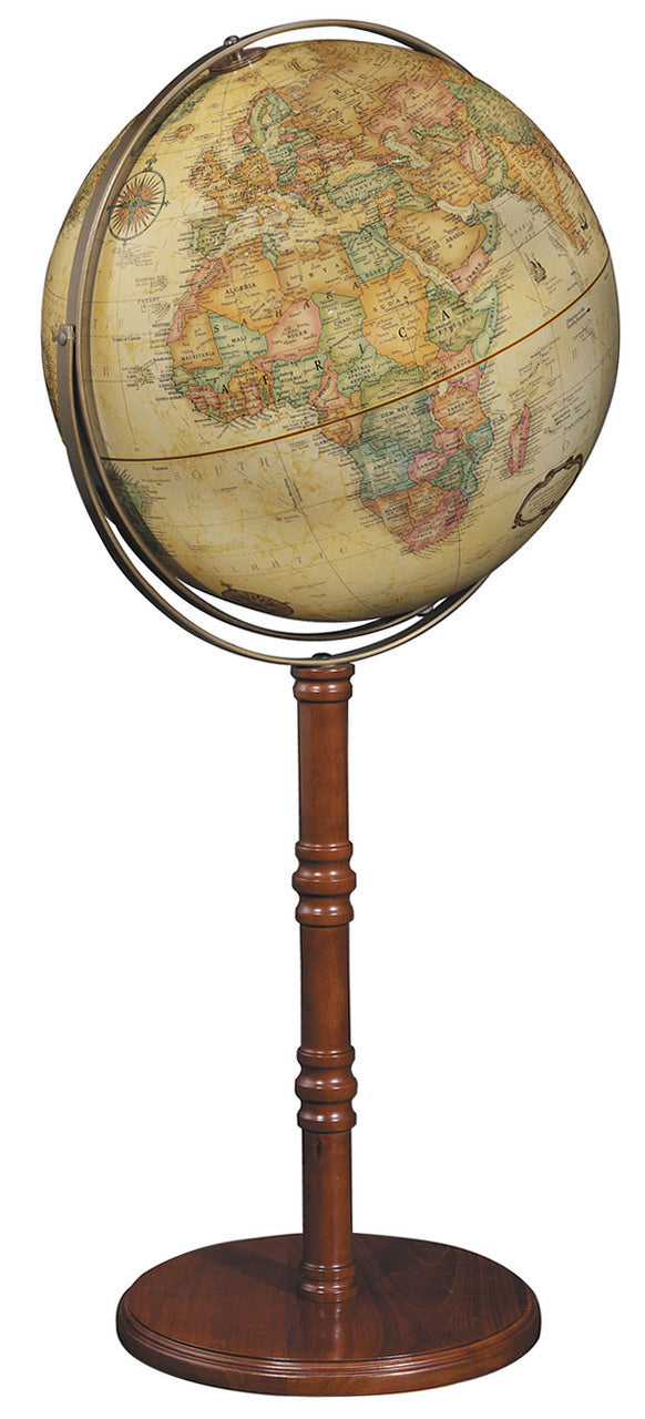 Commander II 16 Inch Floor/Desk World Globe By Replogle Globes