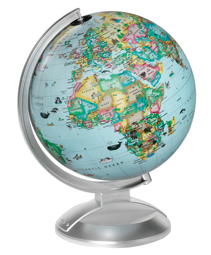 Globe 4 Kids 10 Inch Illuminated Desktop World Globe By Replogle Globes