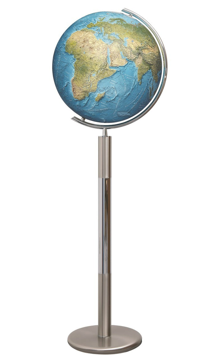 Hannover Duorama Crystal Illuminated 16 Inch Floor World Globe By Columbus Globes
