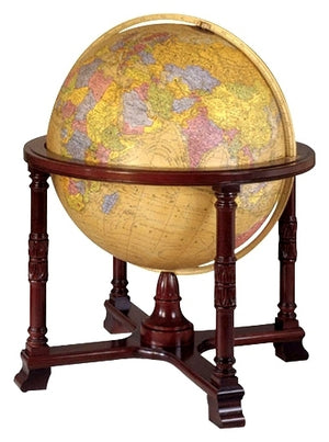 Diplomat Antique Illuminated 32 Inch Floor World Globe By Replogle Globes
