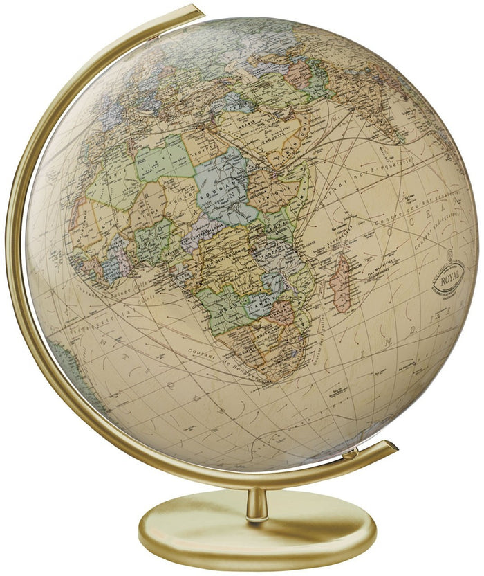 Weimar Illuminated Crystal 16 Inch Desktop World Globe By Columbus Globes