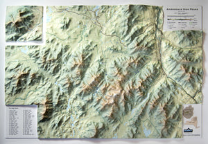 Adirondack High Peaks Three Dimensional 3D Raised Relief Map
