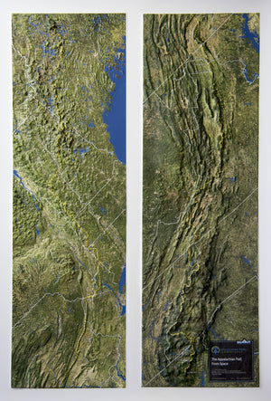 Appalachian Trail Satellite Image Three Dimensional 3D Raised Relief Map