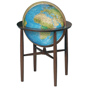 Austin (Blue Ocean) 16 Inch Illuminated Floor World Globe By Replogle Globes