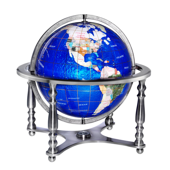 Compass Jewell 13 Inch Desktop World Globe By Replogle Globes
