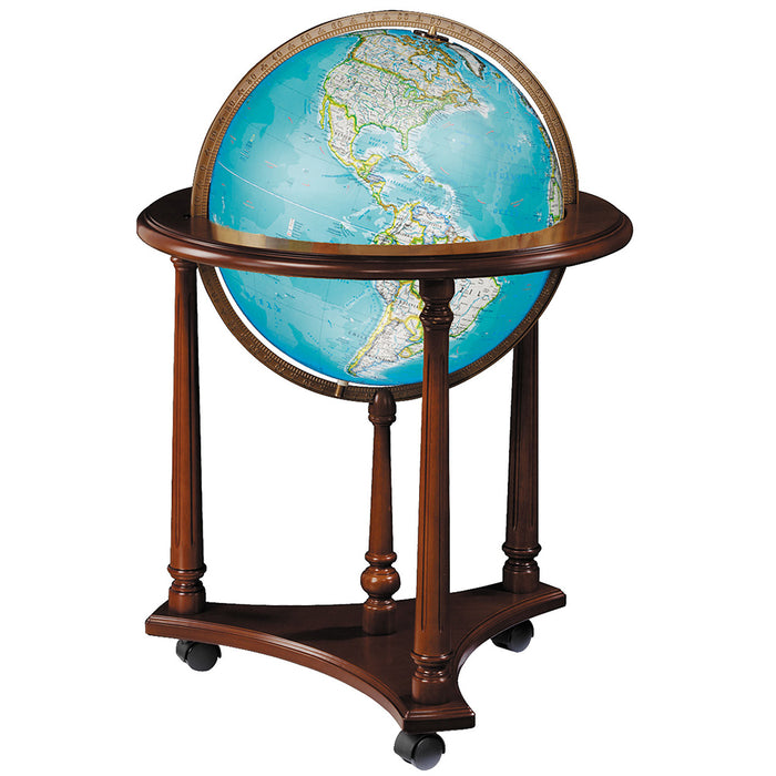 Kingsley 16 Inch Illuminated Floor World Globe By National Geographic