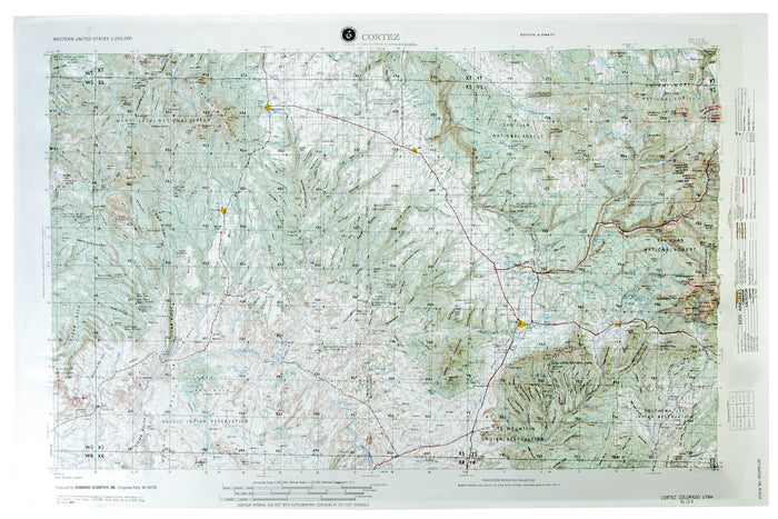 Cortez USGS Regional Raised Relief Map