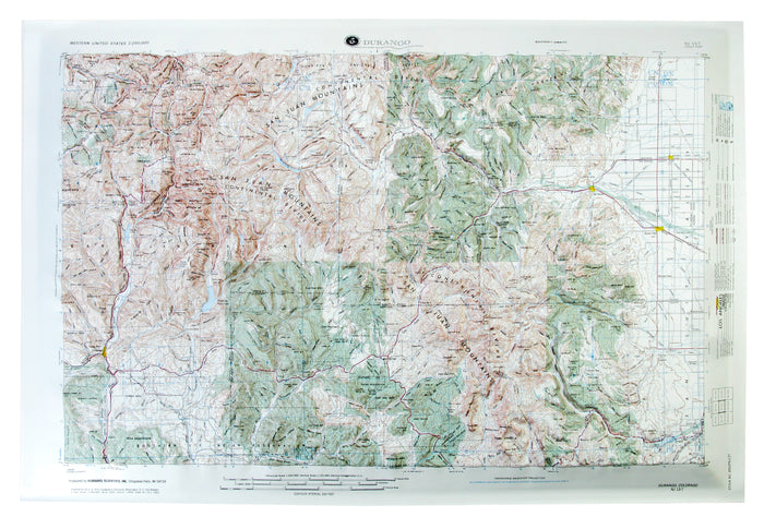 Durango USGS Regional Raised Relief Map