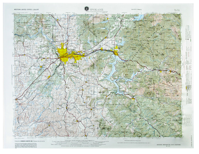 Spokane USGS Regional Raised Relief Map