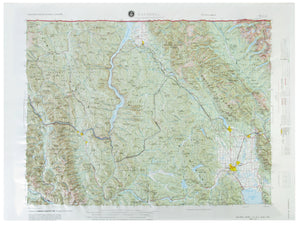 Kalispell USGS Regional Three Dimensional Raised Relief Map