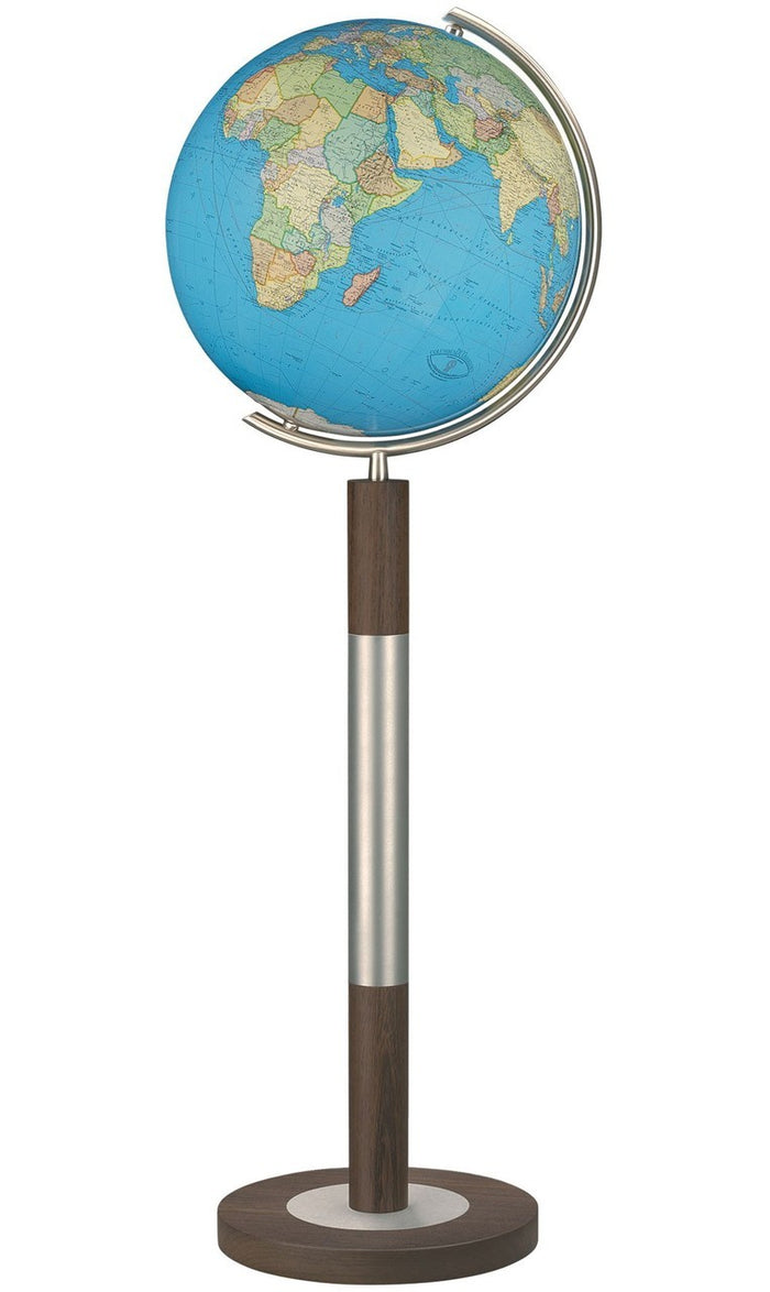 Bremen Duo Illuminated Crystal 16 Inch Floor World Globe By Columbus Globes