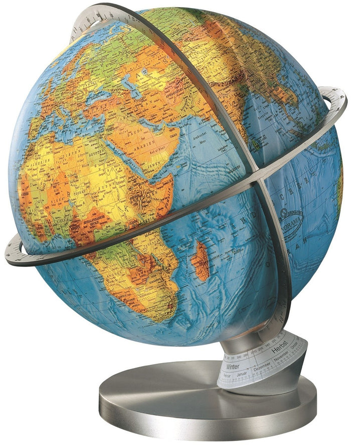 Marco Polo Illuminated 13 Inch Desktop World Globe By Columbus Globes