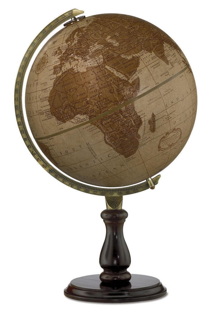 Leather Expedition 12 Inch Desktop World Globe By Replogle Globes