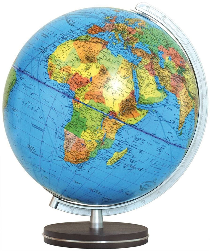 Passau Illuminated Desktop Globe 13 Inch Desktop World Globe By Columbus Globes