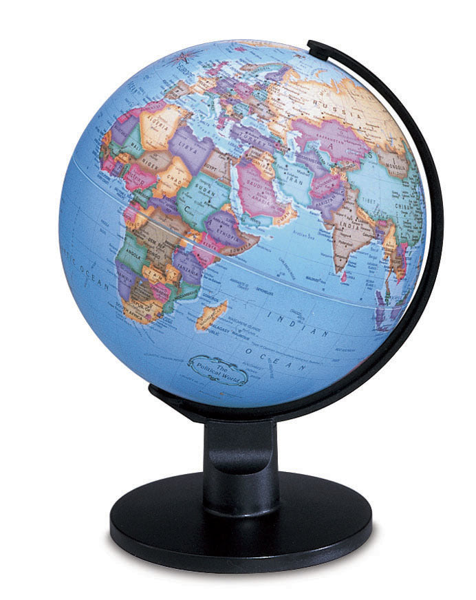 Trekker 6 Inch Desktop World Globe By Replogle Globes