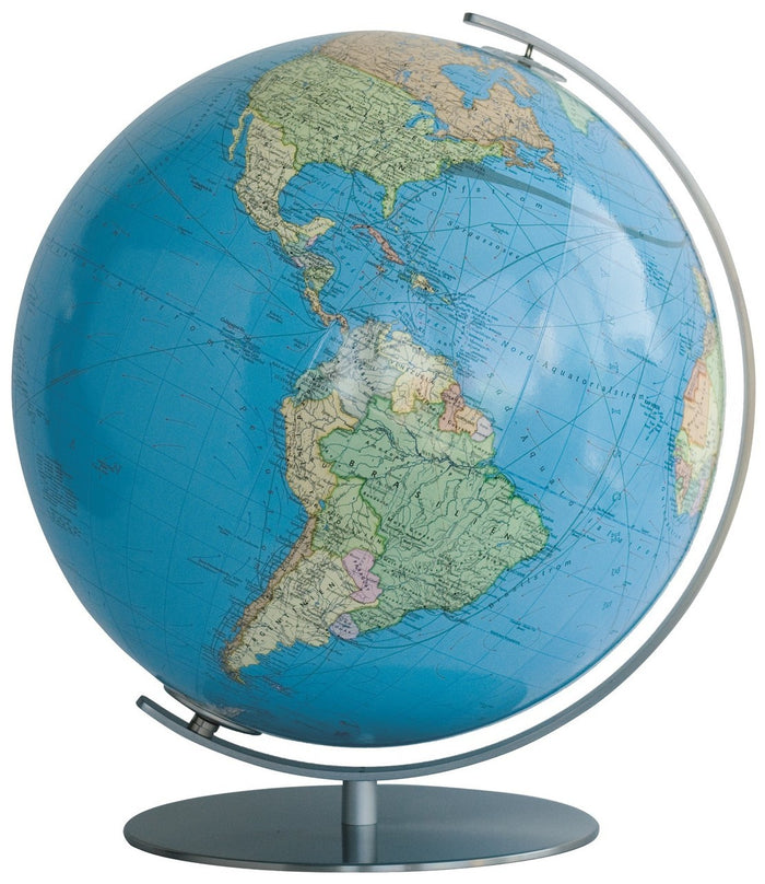 Lindau Illuminated 13 Inch Desktop World Globe By Columbus Globes