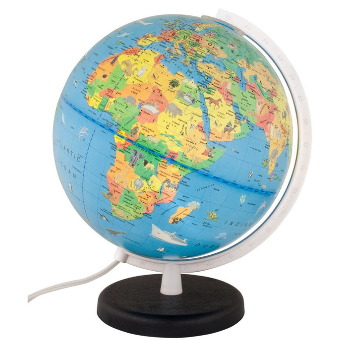 Explorer Illuminated 12 Inch Desktop World Globe By Columbus Globes