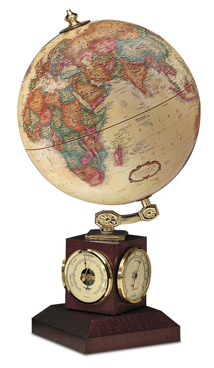 Weather Watch Antique 9 Inch Desktop World Globe By Replogle Globes