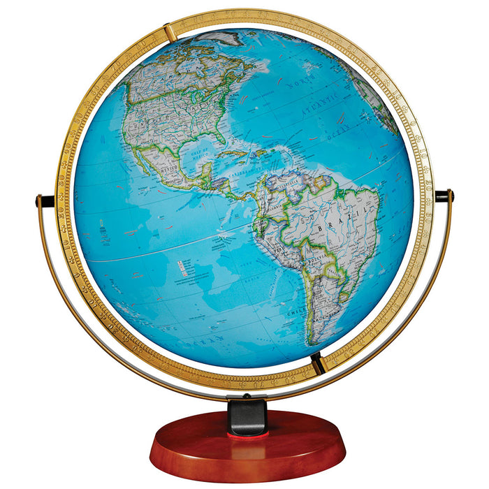 Nicollet 16 Inch Illuminated Desktop World Globe By National Geographic