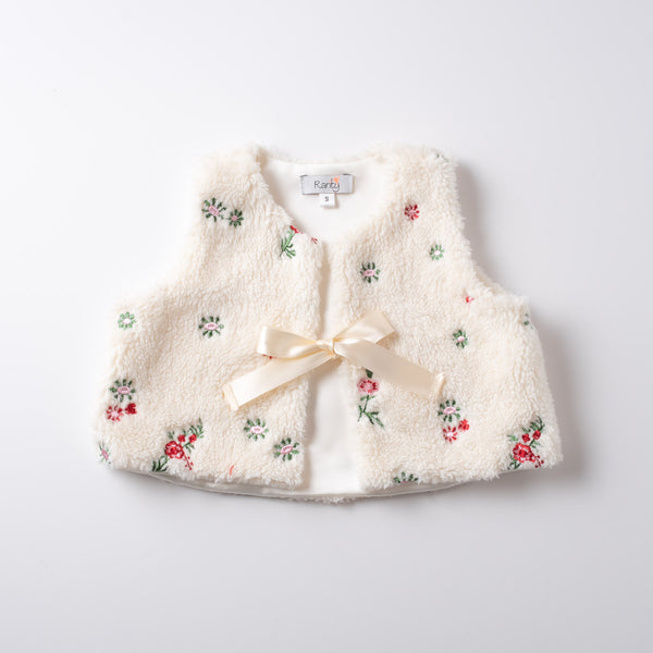 Luxe Flower Child Vest in Ivory