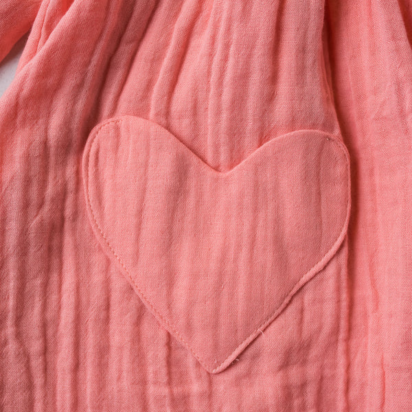 Hart in Sunset Pink Organic Cotton Gauze (Made to Order) 2 weeks
