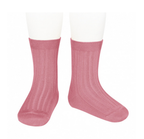 Ribbed, Short Socks TAMARISK