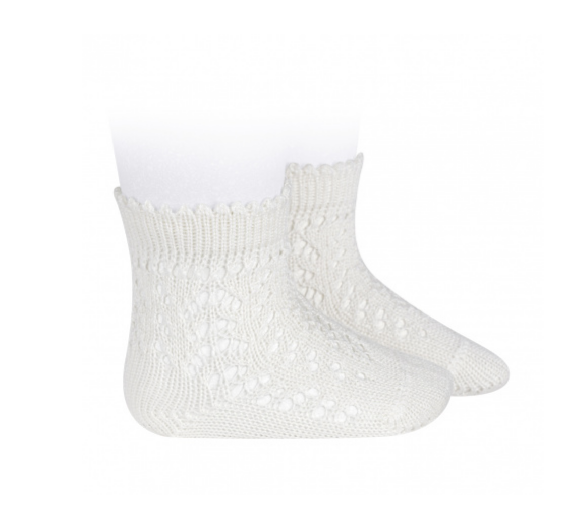 Openwork Short Socks light ivory