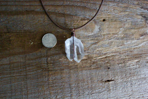 Raw Quartz Crystal Necklace