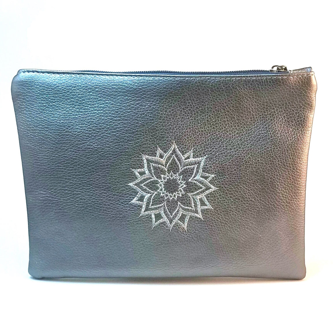Silver Artisanal Make Up Bag