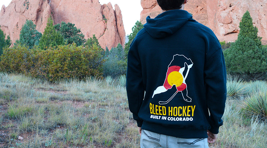 bleed hockey, hockey shirt, colorado hockey, hockey girls, hockey hats, flat bill hockey hat, snapback hockey hat