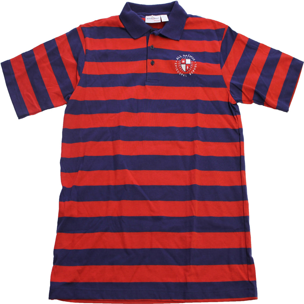 ** 8th Grade Striped Short Sleeve Polo