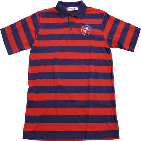 8th Grade Striped Short Sleeve Polo