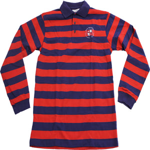 8th Grade Striped Long Sleeve Polo