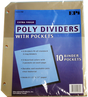 Tab Dividers with Pockets