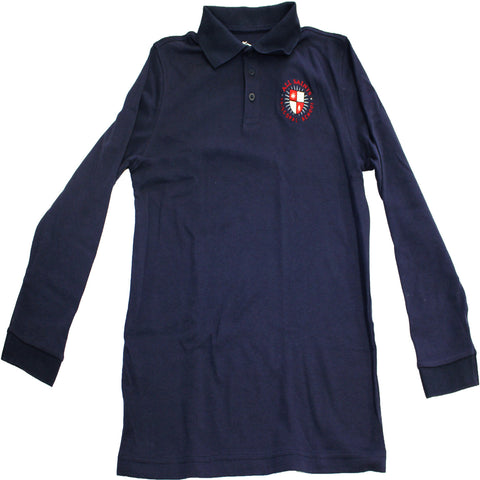 Youth Navy Long Sleeve Polo