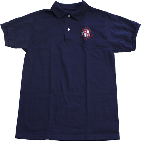 Adult Navy Short Sleeve Polo