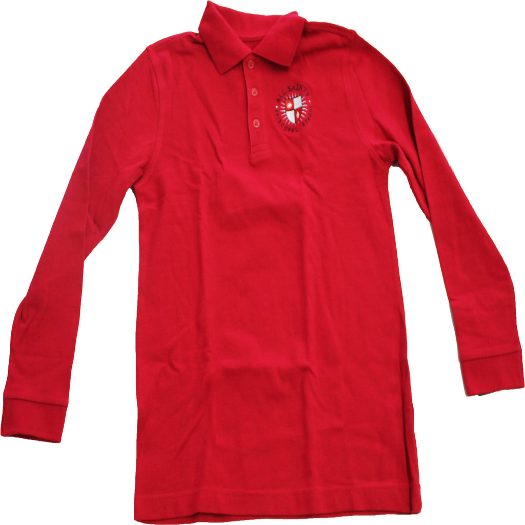 Red Long Sleeve Polo