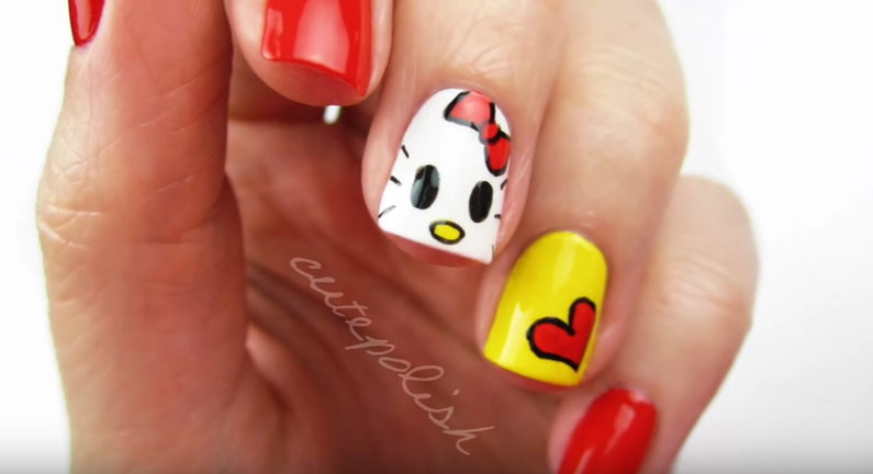 How To Get These Hello Kitty Nails